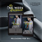 Cover Reveal: One Week Husband by Lauren Blakely