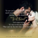Release Blitz: Escape With Me by KristenProby